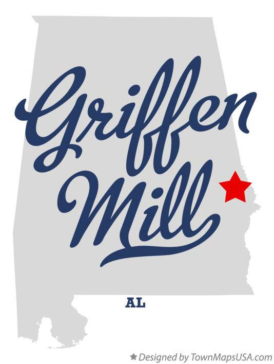 Map of Griffen Mill Alabama AL