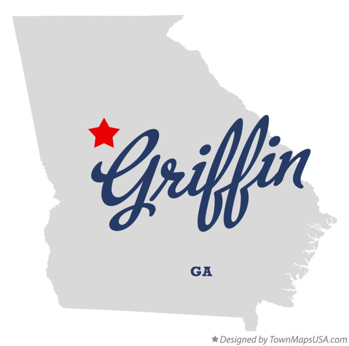 Map of Griffin Georgia GA