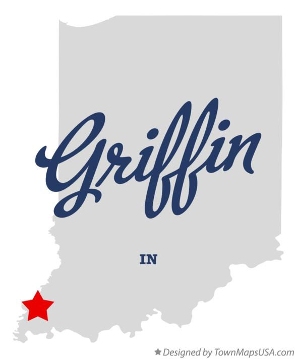 Map of Griffin Indiana IN