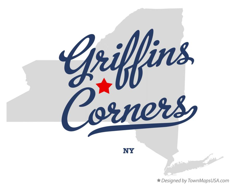 Map of Griffins Corners New York NY