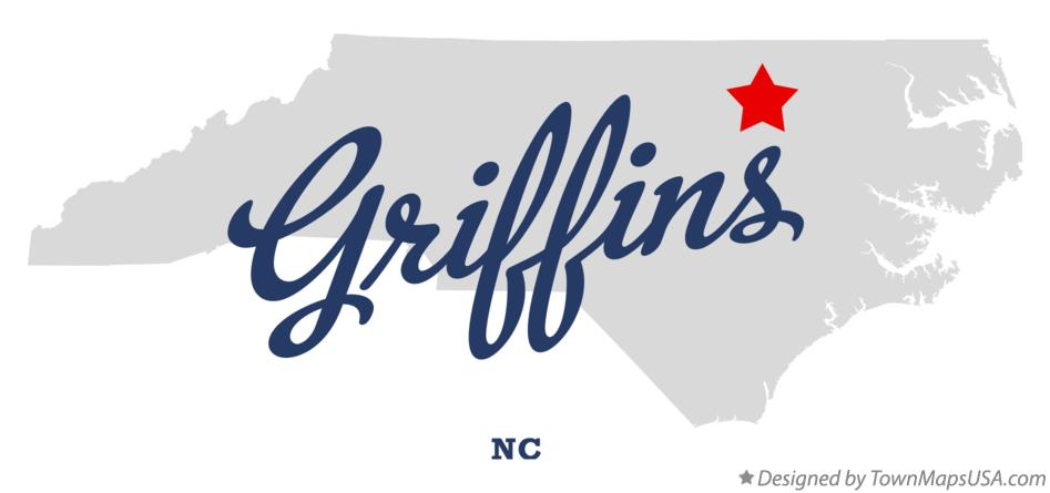 Map of Griffins North Carolina NC