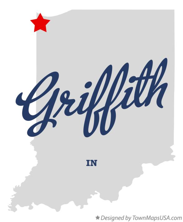 Map of Griffith Indiana IN