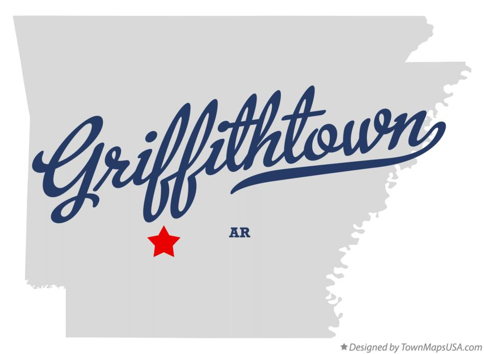 Map of Griffithtown Arkansas AR