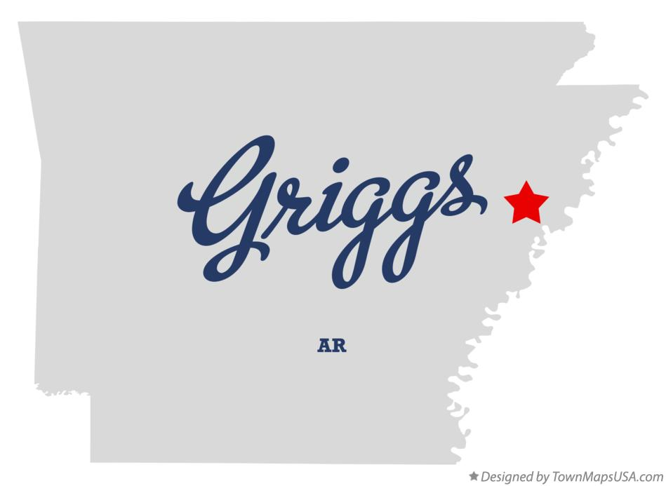 Map of Griggs Arkansas AR