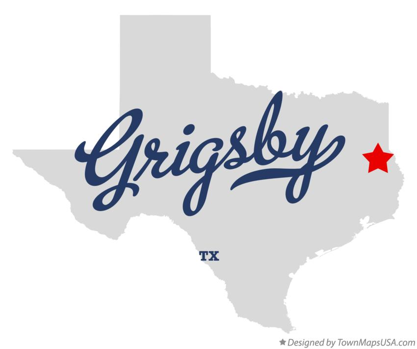 Map of Grigsby Texas TX