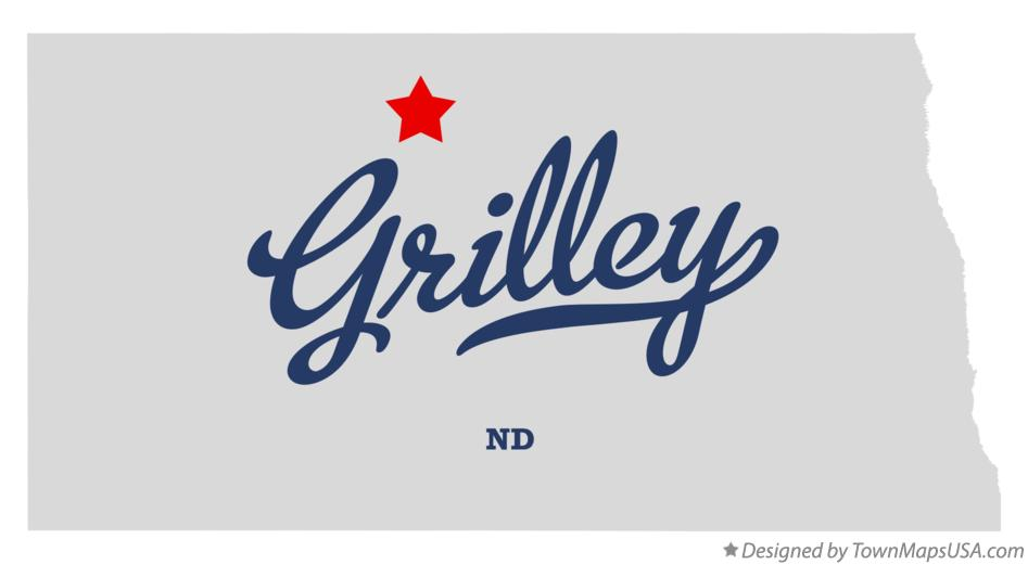 Map of Grilley North Dakota ND