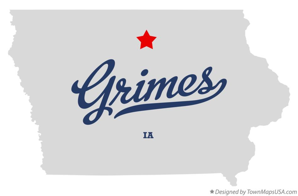 Map of Grimes Iowa IA