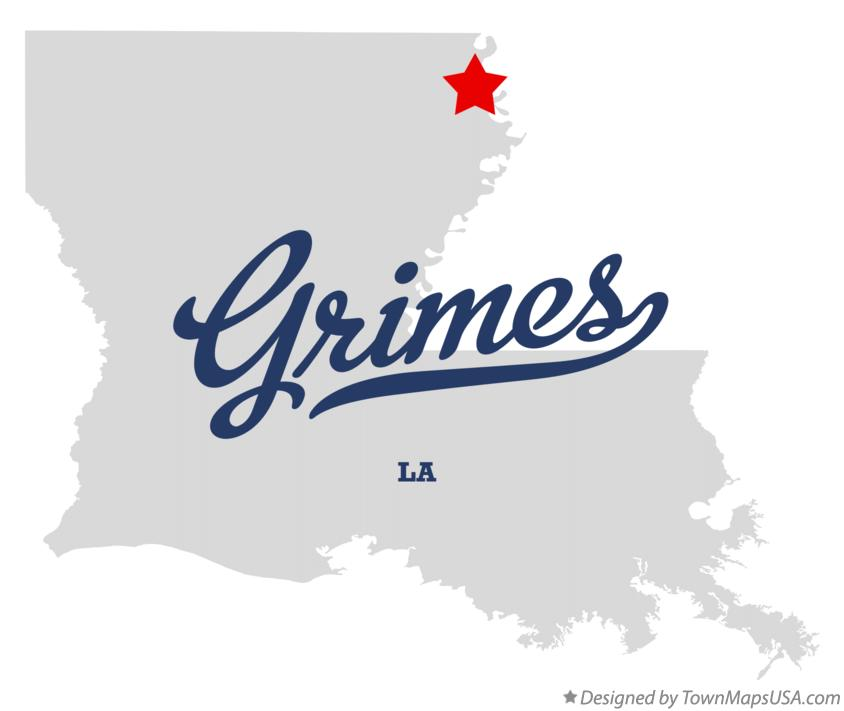 Map of Grimes Louisiana LA