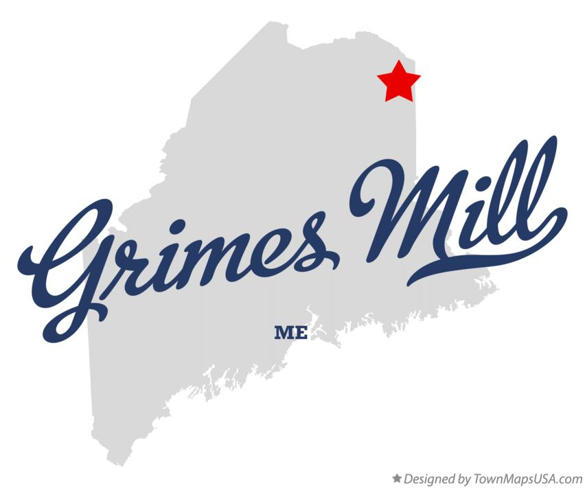 Map of Grimes Mill Maine ME