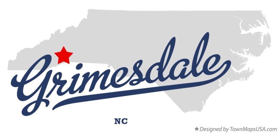 Map of Grimesdale North Carolina NC