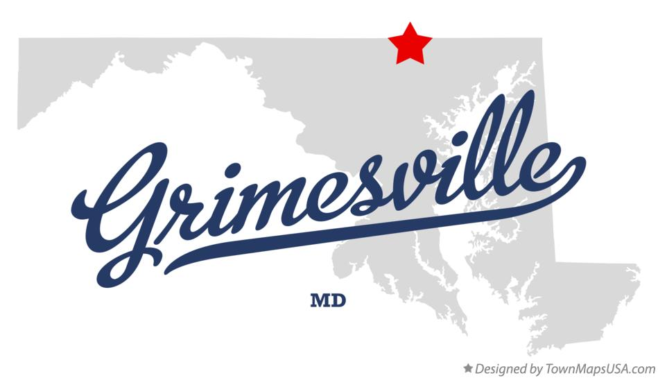 Map of Grimesville Maryland MD