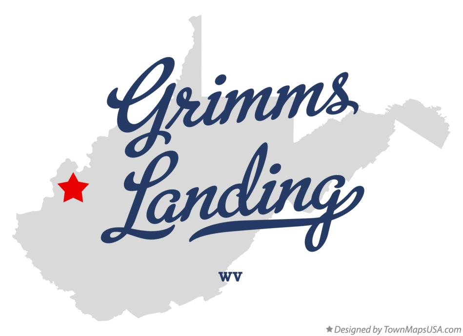 Map of Grimms Landing West Virginia WV