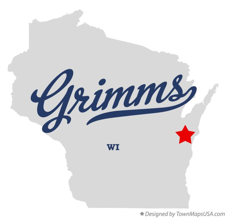Map of Grimms Wisconsin WI
