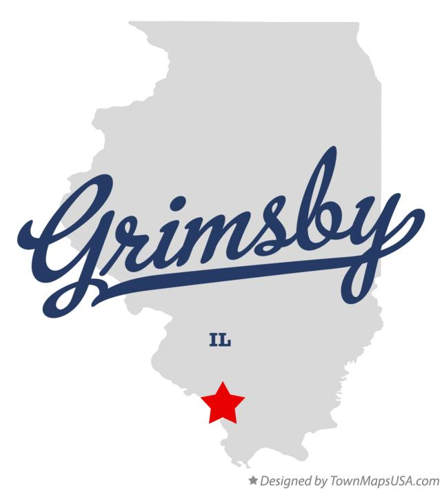 Map of Grimsby Illinois IL