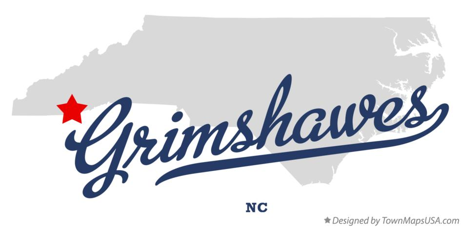 Map of Grimshawes North Carolina NC