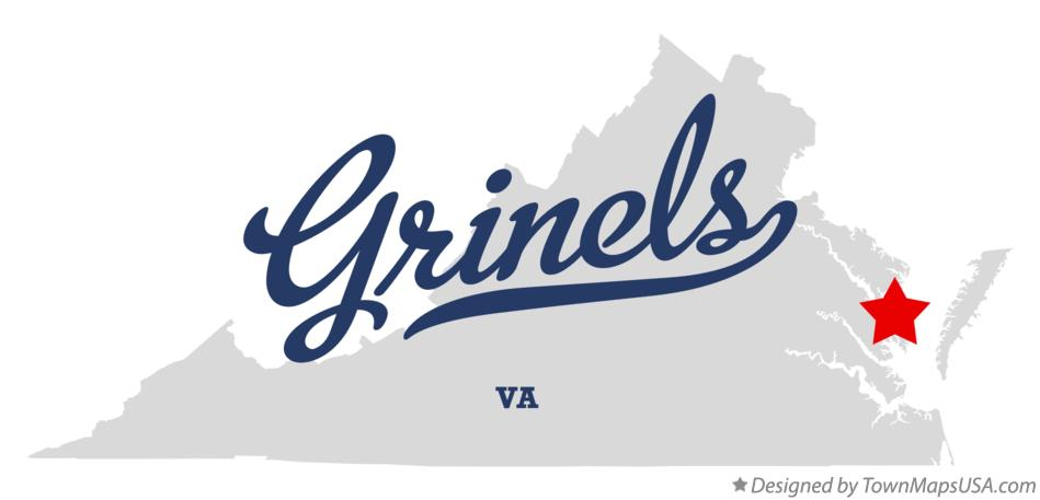 Map of Grinels Virginia VA