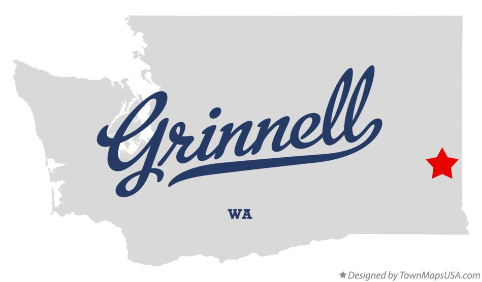 Map of Grinnell Washington WA