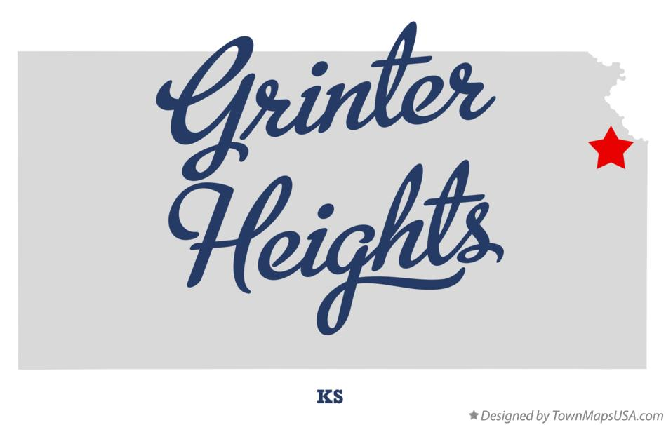 Map of Grinter Heights Kansas KS