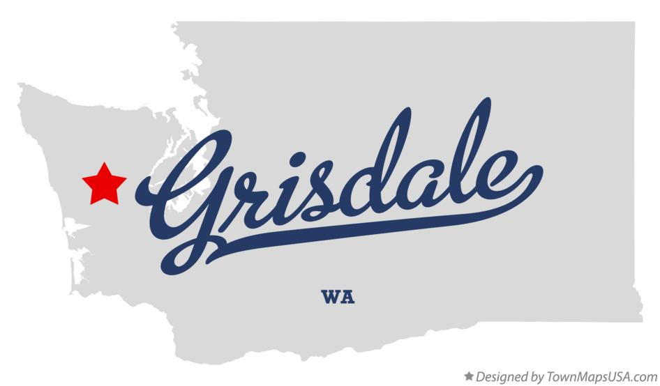 Map of Grisdale Washington WA