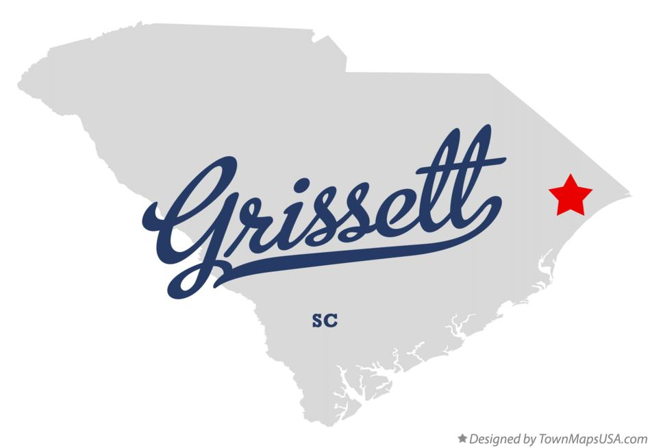 Map of Grissett South Carolina SC