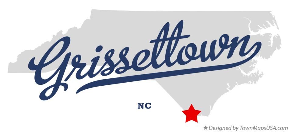 Map of Grissettown North Carolina NC