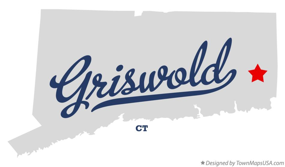 Map of Griswold Connecticut CT