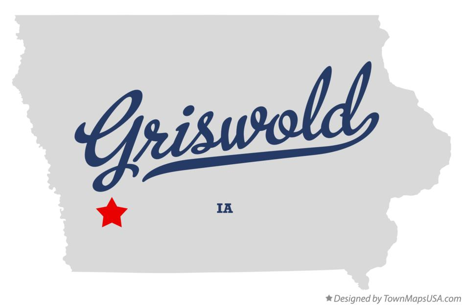 Map of Griswold Iowa IA