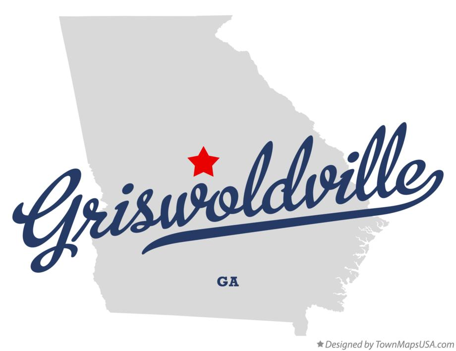 Map of Griswoldville Georgia GA