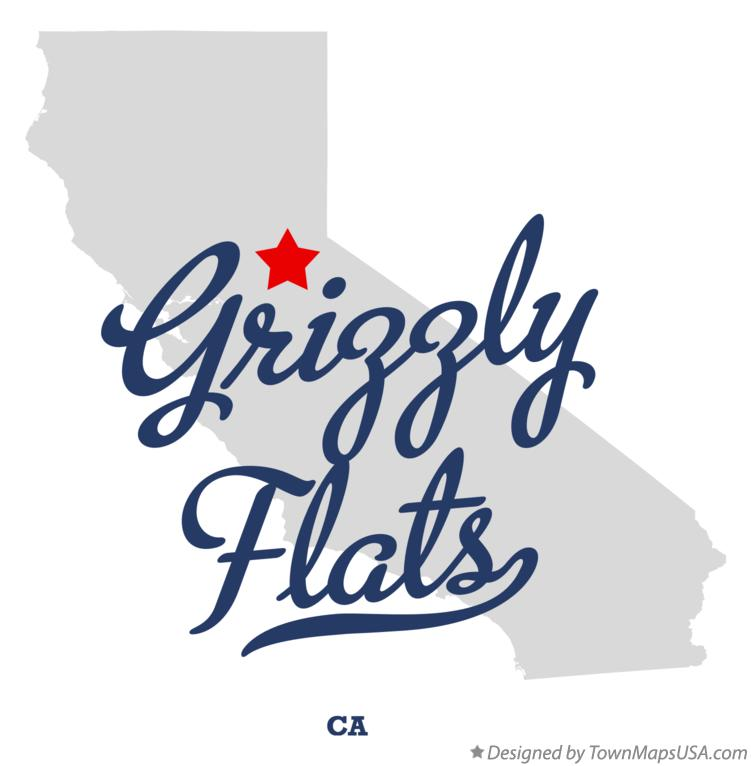 Map of Grizzly Flats California CA