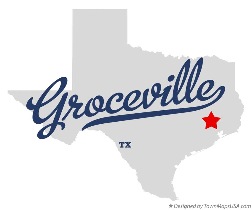 Map of Groceville Texas TX