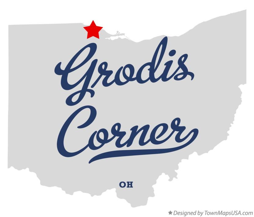 Map of Grodis Corner Ohio OH