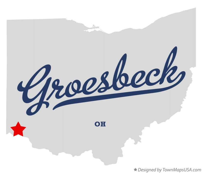 Map of Groesbeck Ohio OH