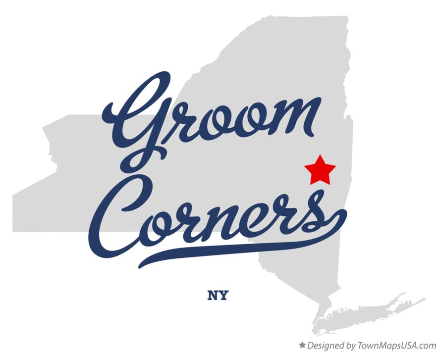 Map of Groom Corners New York NY