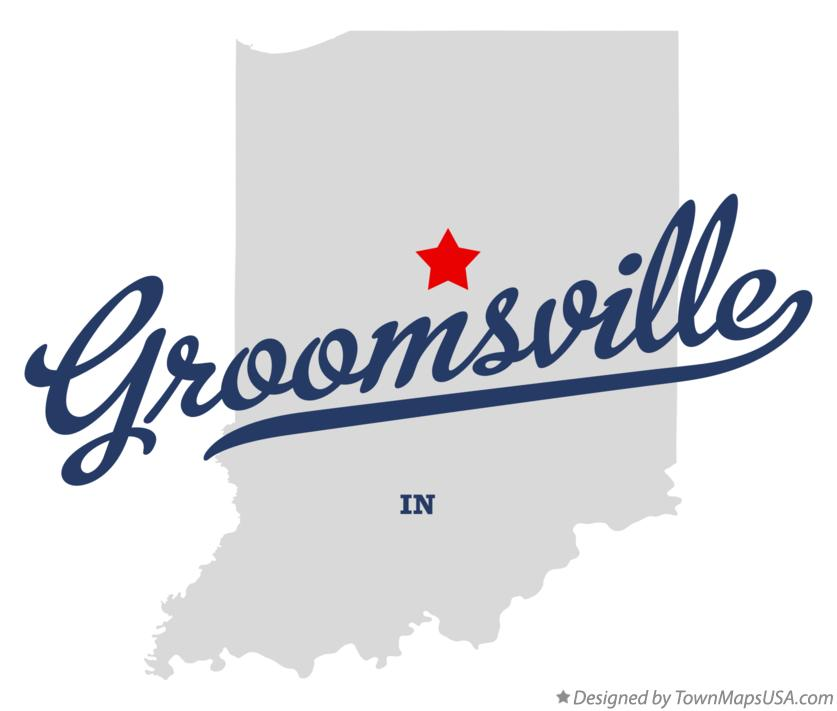 Map of Groomsville Indiana IN