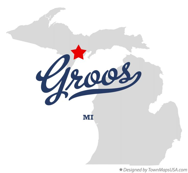 Map of Groos Michigan MI
