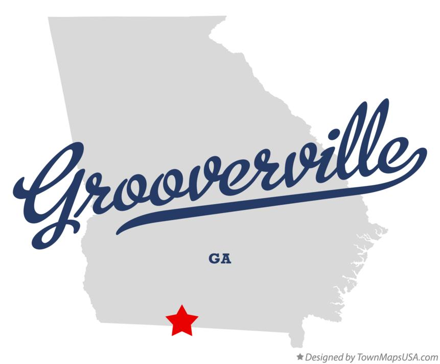 Map of Grooverville Georgia GA