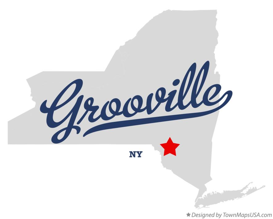 Map of Grooville New York NY