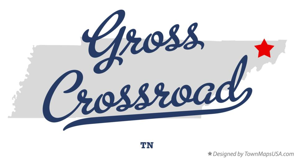 Map of Gross Crossroad Tennessee TN