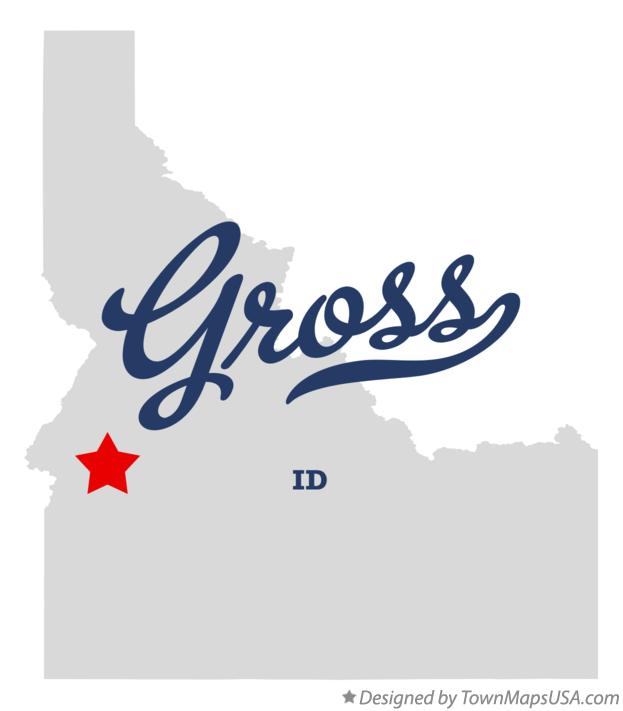Map of Gross Idaho ID