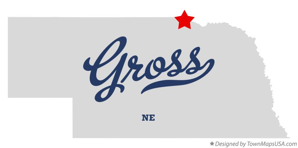 Map of Gross Nebraska NE