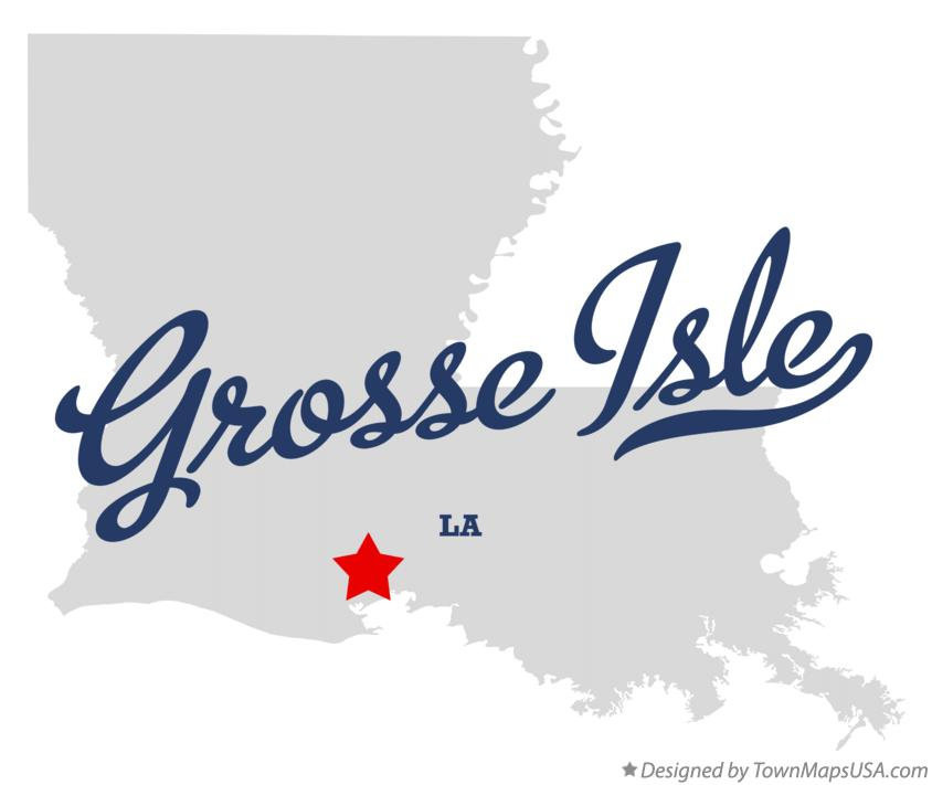 Map of Grosse Isle Louisiana LA