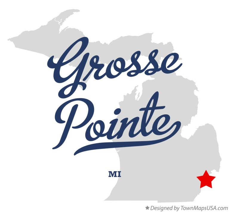 Grosse Point Michigan Map.Map Of Grosse Pointe Mi Michigan