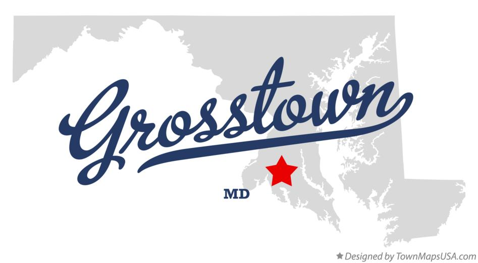 Map of Grosstown Maryland MD
