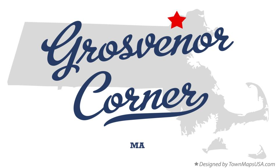 Map of Grosvenor Corner Massachusetts MA