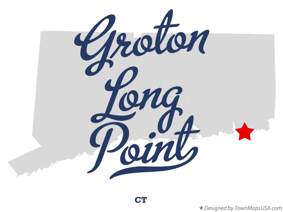 Map of Groton Long Point Connecticut CT