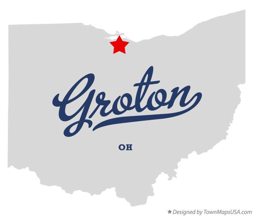 Map of Groton Ohio OH