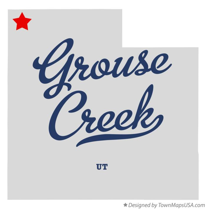 Map of Grouse Creek Utah UT