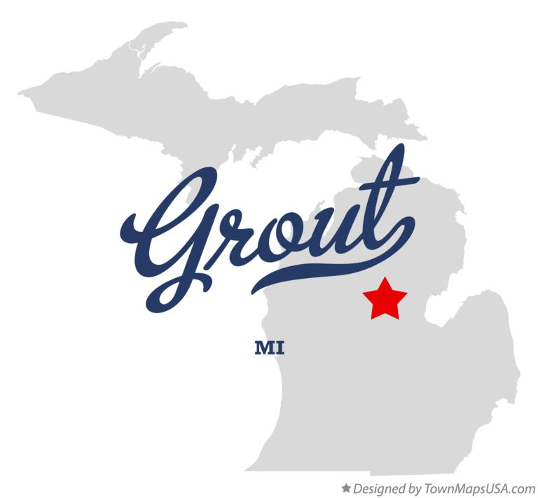 Map of Grout Michigan MI
