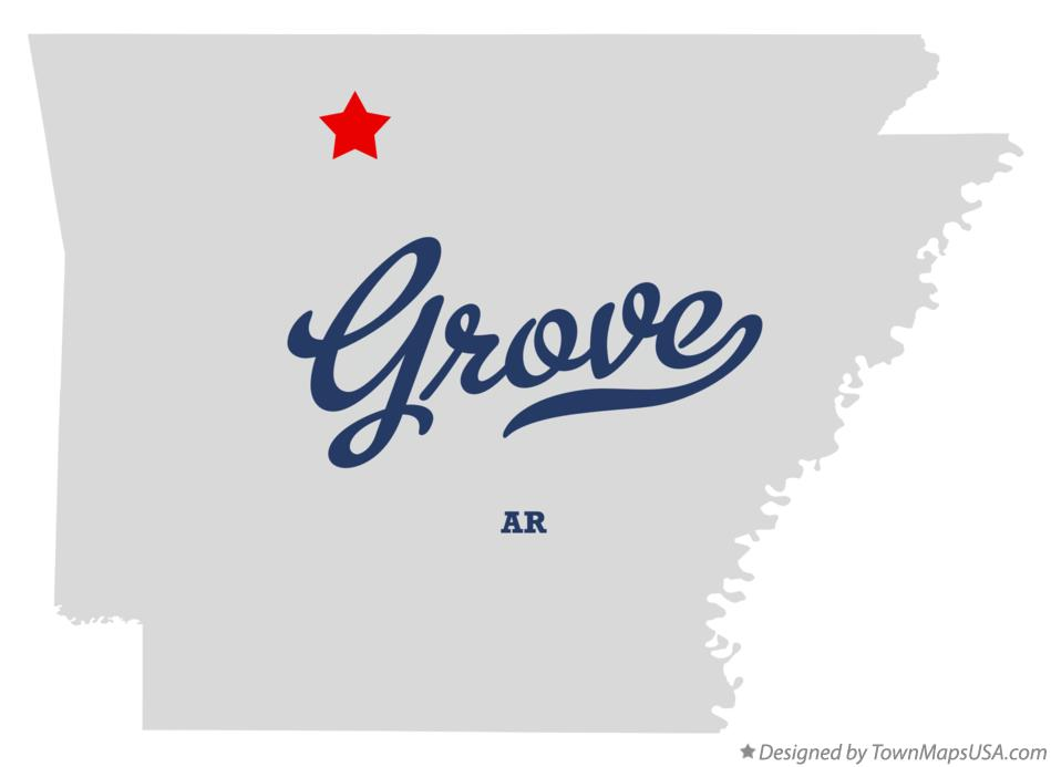 Map of Grove Arkansas AR
