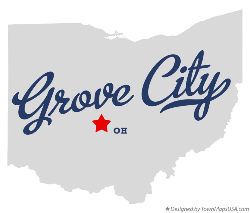Map of Grove City Ohio OH
